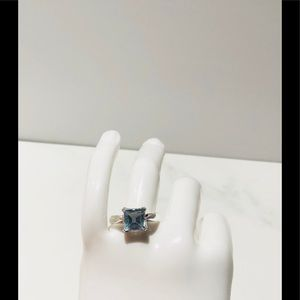 Blue topez ring size 8